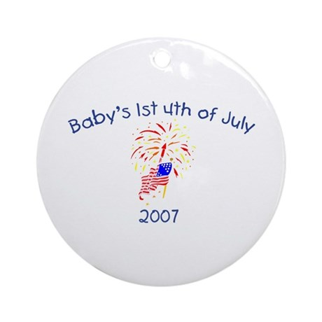 Baby's 1st 4th Of July (American Flag) Ornament (R