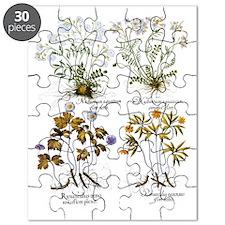 Vintage Flowers by Basilius Besler Puzzle