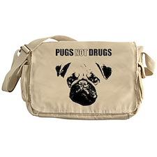 Pug Not Drugs Messenger Bag