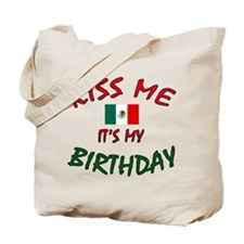 Kiss Me w/Mexican Flag Tote Bag
