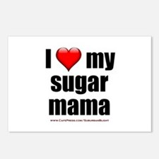 """Love My Sugar Mama"" Postcards (Package of 8)"