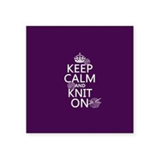Keep Calm and Knit On Sticker