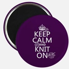 Keep Calm and Knit On Magnets