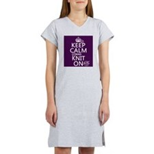 Keep Calm and Knit On Women's Nightshirt