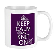 Keep Calm and Knit On Mugs