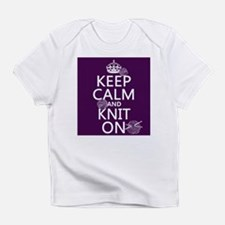 Keep Calm and Knit On Infant T-Shirt