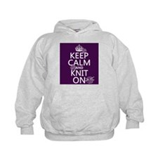 Keep Calm and Knit On Hoody