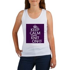 Keep Calm and Knit On Tank Top