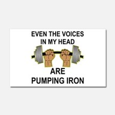 Voices Are Pumping Iron Car Magnet 20 x 12