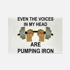 Voices Are Pumping Iron Rectangle Magnet