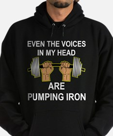Voices Are Pumping Iron Hoodie (dark)