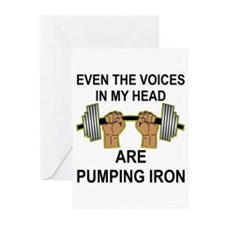 Voices Are Pumping Iron Greeting Cards (Pk of 20)