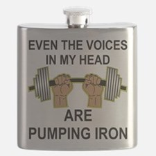 Voices Are Pumping Iron Flask