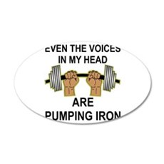 Voices Are Pumping Iron Wall Decal