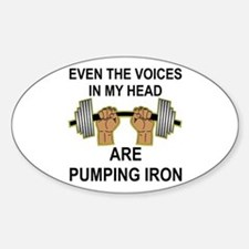 Voices Are Pumping Iron Decal