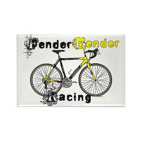 Fender Bender Racing Rectangle Magnet