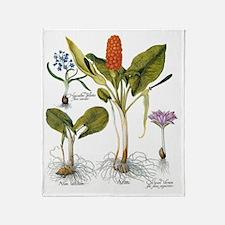 Vintage Flowers by Basilius Besler Throw Blanket