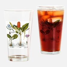 Vintage Flowers by Basilius Besler Drinking Glass