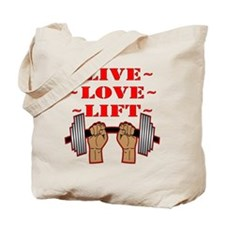 Weightlifting Live Love Lift Tote Bag