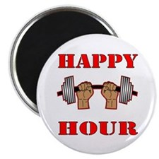Happy Hour Barbell Magnet