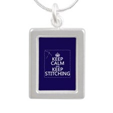 Keep Calm and Keep Stitching Necklaces