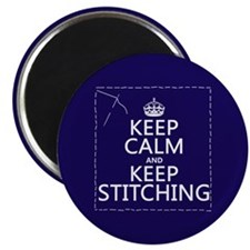 Keep Calm and Keep Stitching Magnets