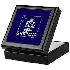 Keep Calm and Keep Stitching Keepsake Box
