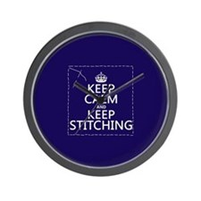 Keep Calm and Keep Stitching Wall Clock