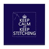 Keep calm and stitch on Drink Coasters