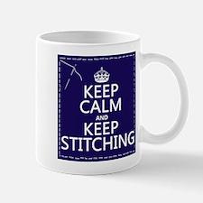 Keep Calm and Keep Stitching Mugs