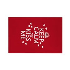 Keep Calm and Kiss Me Magnets