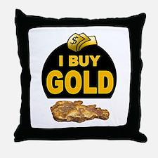GOLD BUYER Throw Pillow