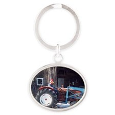 Hired Hand Rooster Oval Keychain