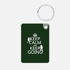 Keep Calm and Keep Going Keychains