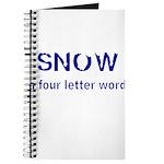 SNOW a four litter word Journal