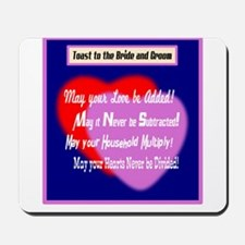 May Your Love Be Added-Wedding Toast Mousepad