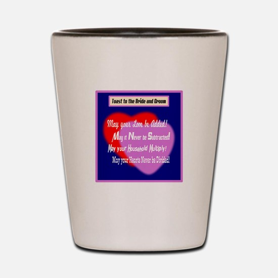 May Your Love Be Added-Wedding Toast Shot Glass