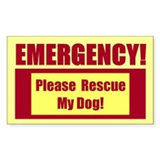 Rescue My Dog - Emergency Door/Window Sticker B
