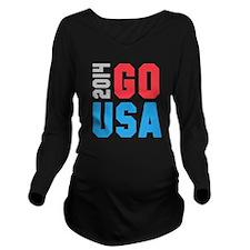 Go USA 2014 Long Sleeve Maternity T-Shirt