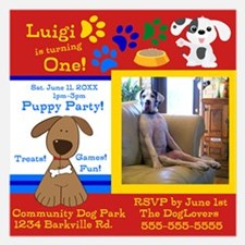 Personalize Puppy Birthday Invitation Invitationsx Invitations