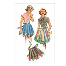 1950's Apron Pattern Desi Postcards (Package of 8)