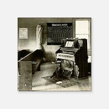 "Church Organ with Pews Square Sticker 3"" x 3"""