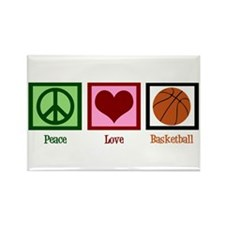 Peace Love Basketball Rectangle Magnet (10 pack)