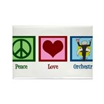 Peace Love Orchestra Rectangle Magnet (10 pack)