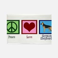Cute German shepherd Rectangle Magnet (100 pack)