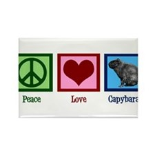 Peace Love Capybaras Rectangle Magnet (10 pack)