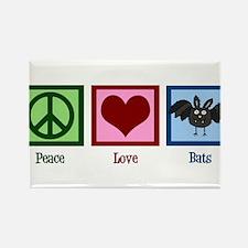 Peace Love Bats Rectangle Magnet (100 pack)