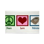 Peace Love Falcons Rectangle Magnet (100 pack)