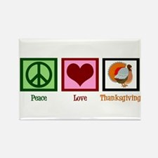 Peace Love Thanksgiving Rectangle Magnet (100 pack