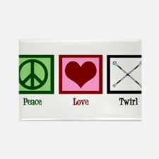 Peace Love Twirl Rectangle Magnet (10 pack)